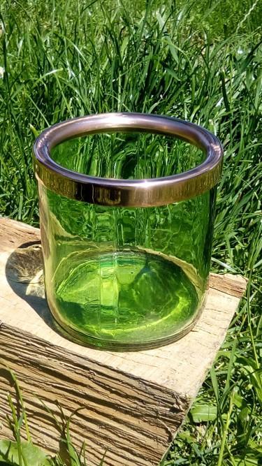 měděný lem sklenice