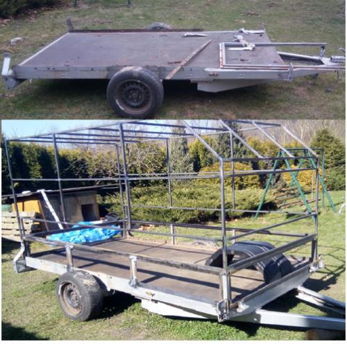 konstrukce přívěsný vozík